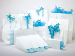 Kraft Paper Shopping Bags, Merchandise Bags