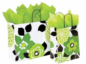 Vibrant Print Paper Shopping Bags