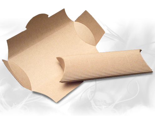 Corrugated pillow boxes, gift card boxes