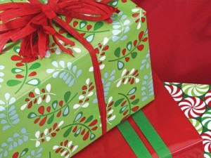 Holiday and Christmas gift wrap