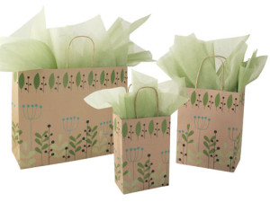 Subtle Holiday Print Gift Bags