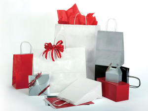 Gloss Color Paper Shopping Bags