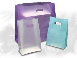 Frosted High Density Plastic Bags