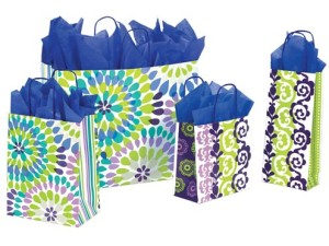 Make-A-Splash colorful printed paper shopping bags