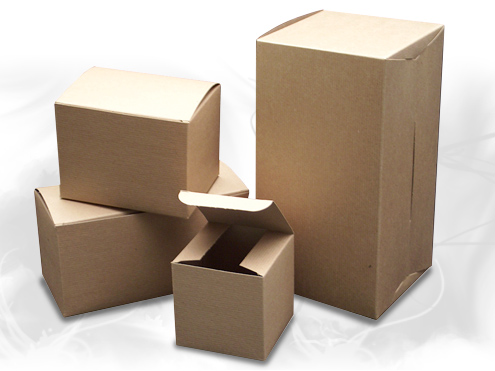 Recyclable kraft paper gift boxes