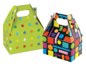 Colorful Gable Boxes with Handles
