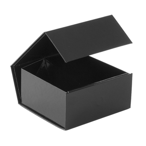 black folding magnetic jewelry box