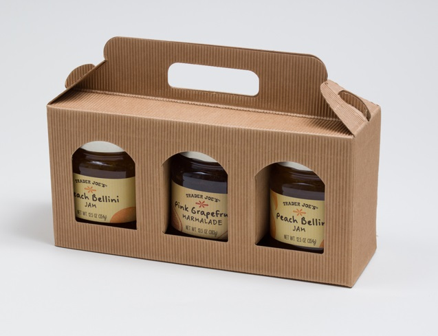 jar carrier gift box with handle